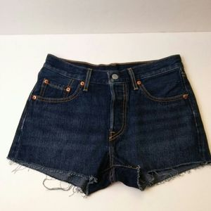 Levi's 501 Cut Off Shorts Dark Rinse